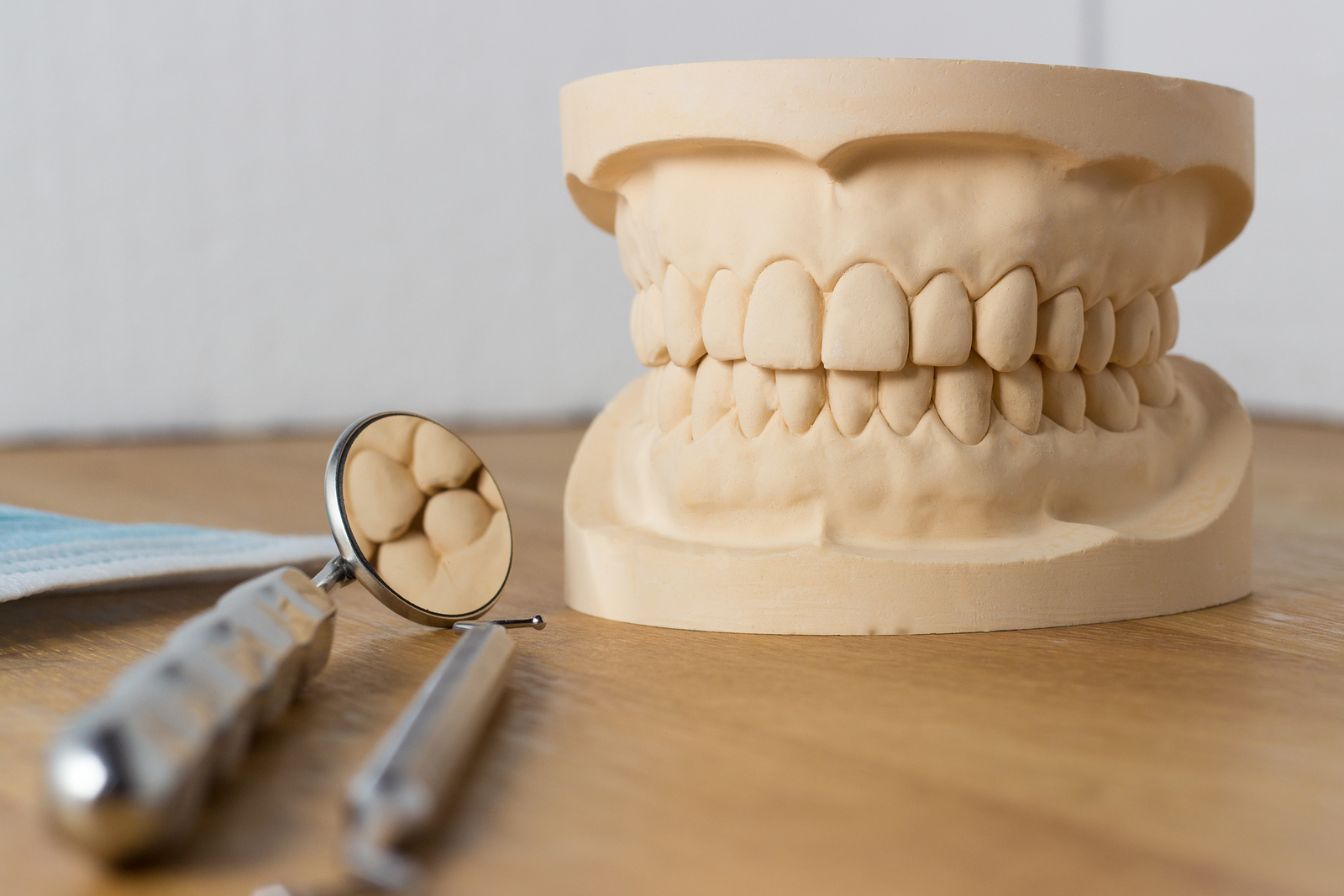 Dental Mold With Dental Tools