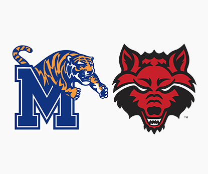 Proud Official Partner of the Memphis Tigers and A-State Red Wolves